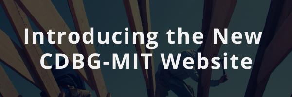 Introducing the New CDBG-MIT Website