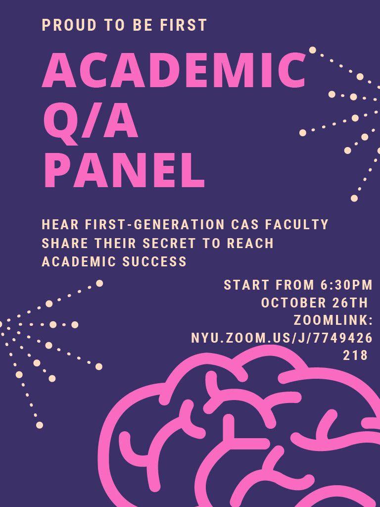 Academic Q/A Panel Photo