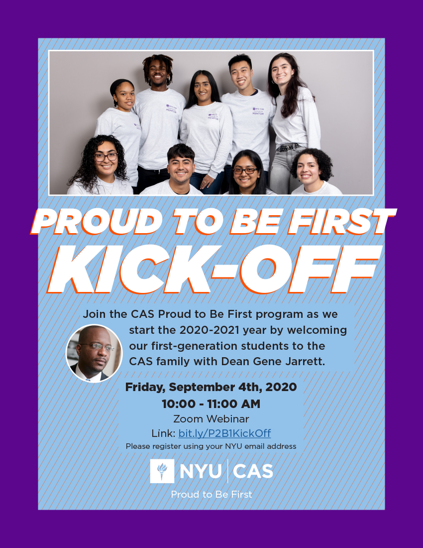 Proud to Be First Fall 2020 Kickoff Photo