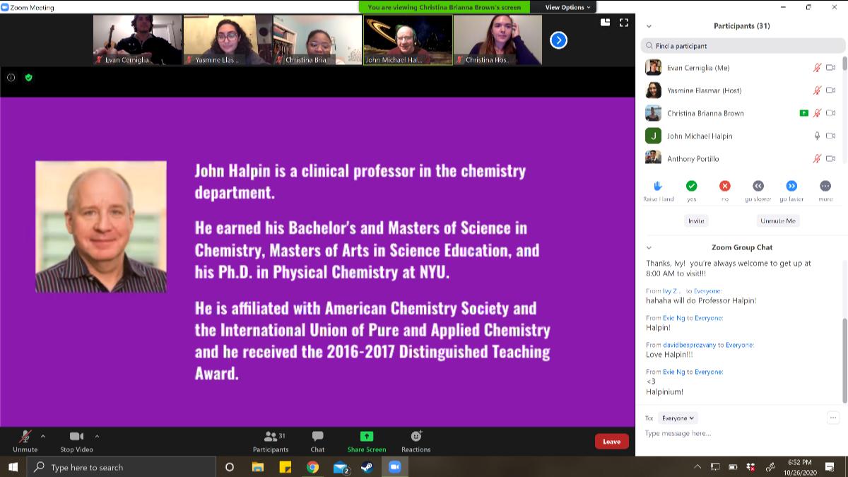 Academic Panel Screenshot Photo