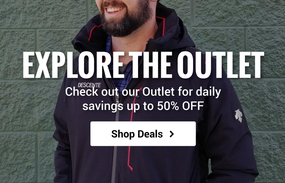 Save up to 50% off when you shop the Outlet