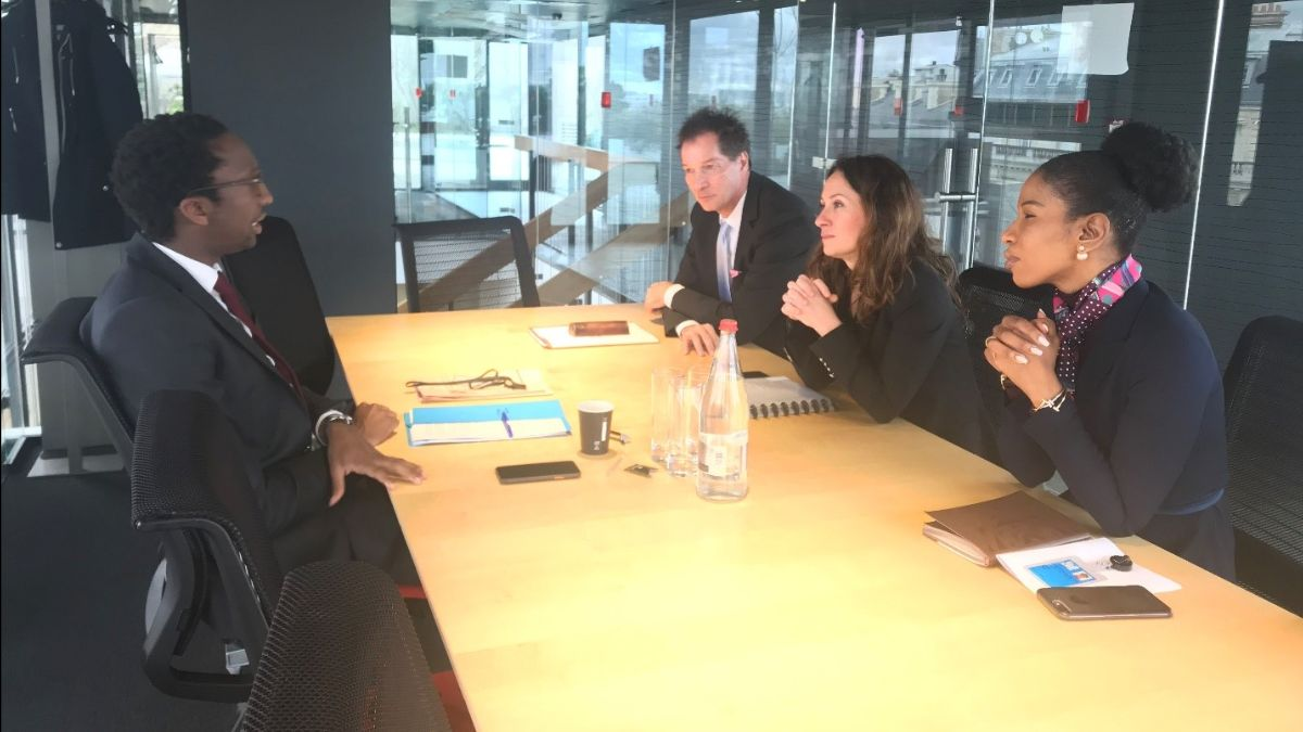 World Bank External and Corporate Relations VP Meets Hervé Berville MP, Member of Foreign Affairs Committee, France