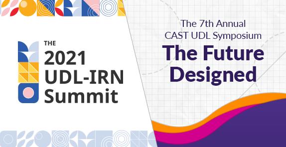 UDL-IRN Summit logo and CAST UDL Symposium logo