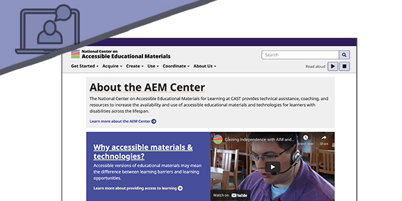 Screenshot of the AEM Center website