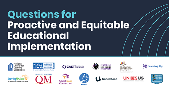 Questions for proactice and equitable education implementation