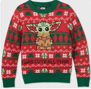 Target Baby Yoda Ugly Christmas Sweater