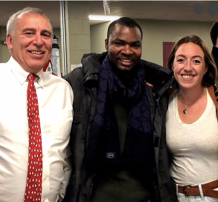 Pictured: Ted Jordan,Hashim Abdallah '09, and Emma Goldbas '09