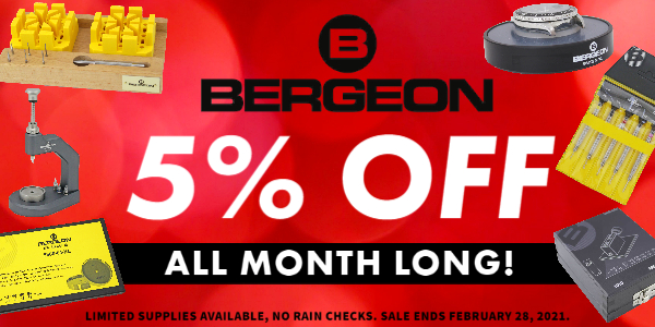 + 5% OFF Bergeon Watchmaking Tools All Month Long, No Exclusions!