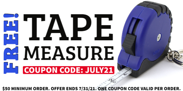 FREE With Order Tape Measure