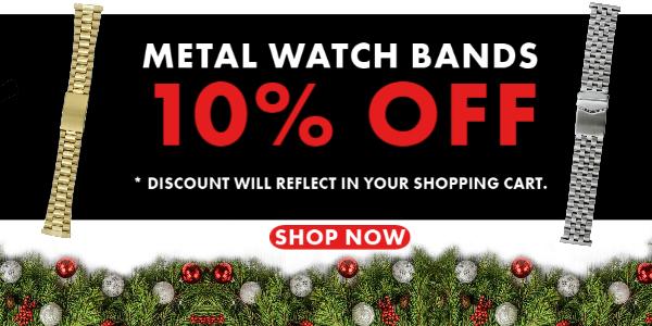 Metal Watch Bands - 10% Off