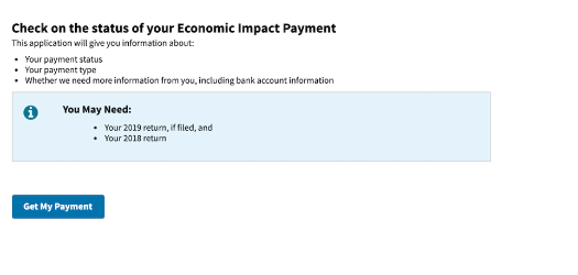 Check the Status of My Economic Impact Payment