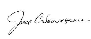 June Sauvageau signature
