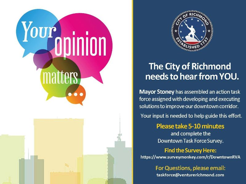 Mayor's Task Force Requests Your Feedback - Downtown RVA
