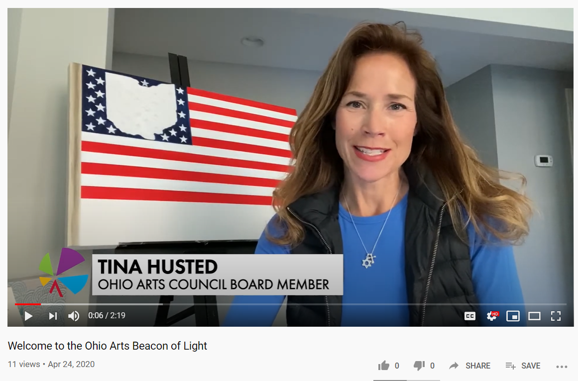 Screenshot of the Welcome to the Ohio Arts Beacon of Light video. Click image to watch the full video.