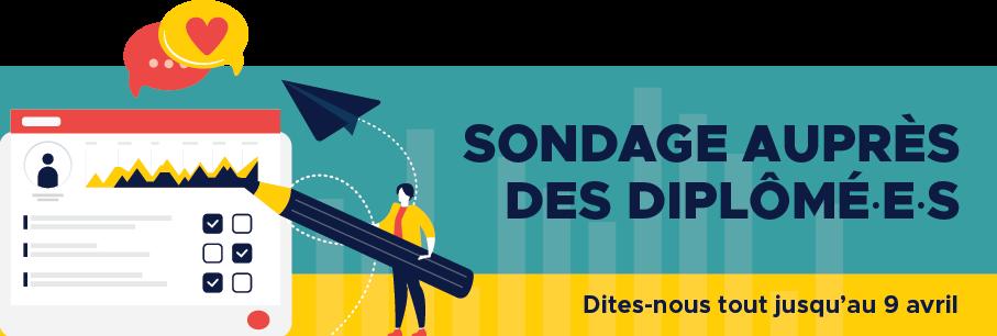 Affiche Sondage auprès des diplômé·e·s