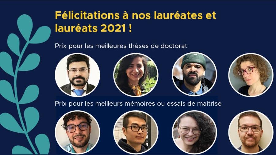 Bannière diplômé.e.s récipiendaires 2021