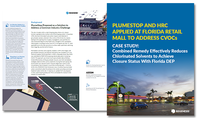 PlumeStop and HRC Applied at Florida Retail Mall to Address CVOCs