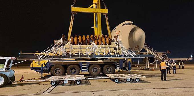 A picture containing transport, concrete mixer, trailer  Description automatically generated