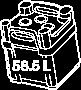 58.5 L tote