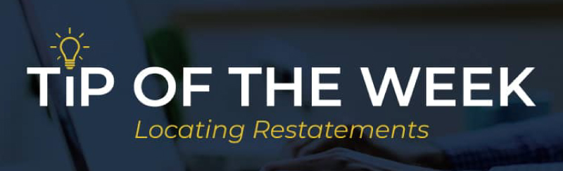 TOTW: Restatements