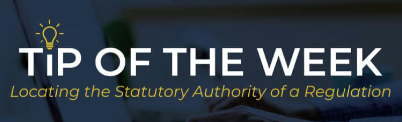 TOTW: Statutory Authority