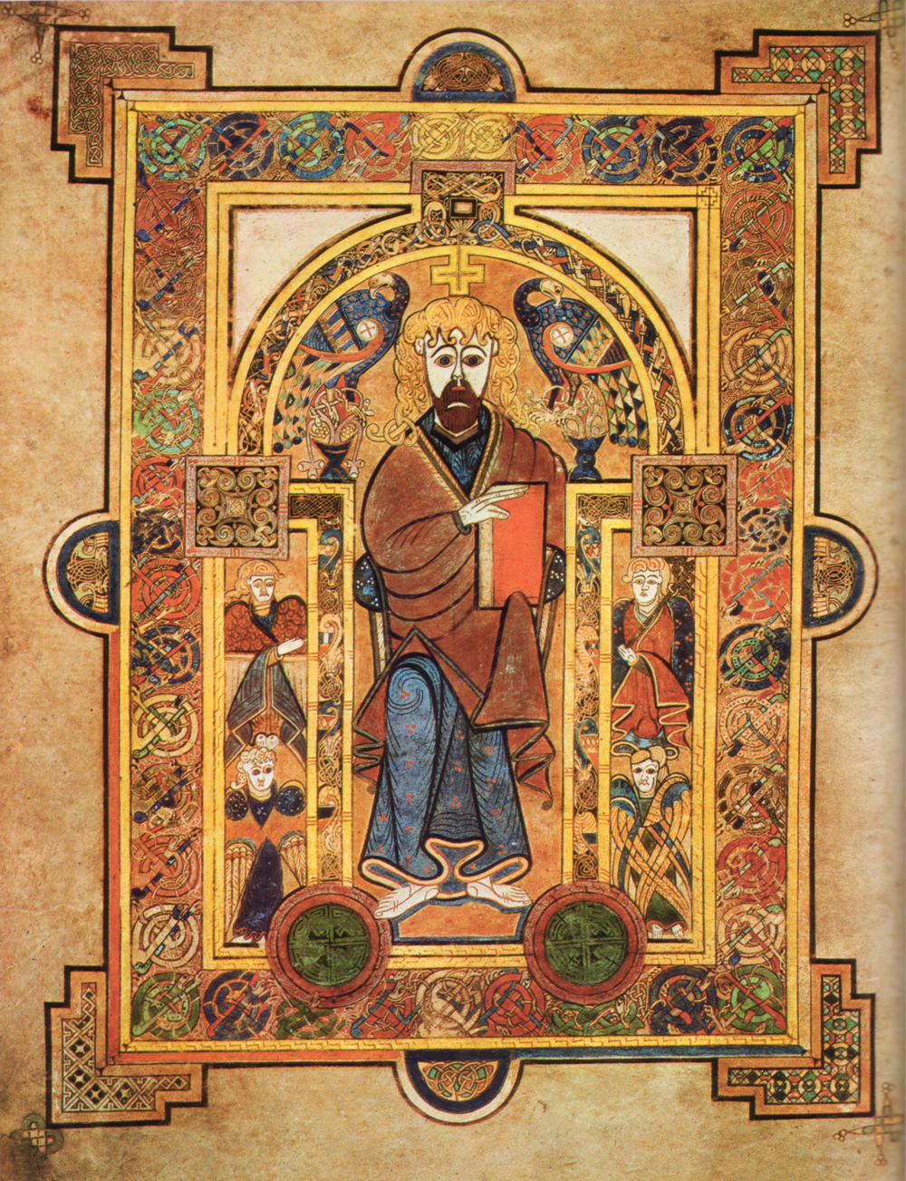 Christ Enthroned, Book of Kells