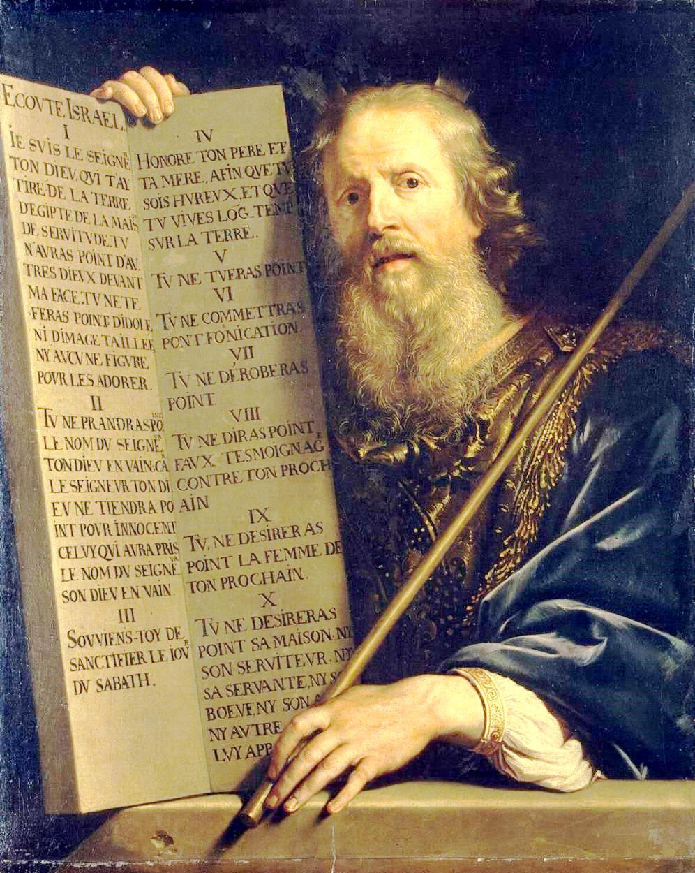 Philippe de Champaigne, Moses with the Ten Commandments