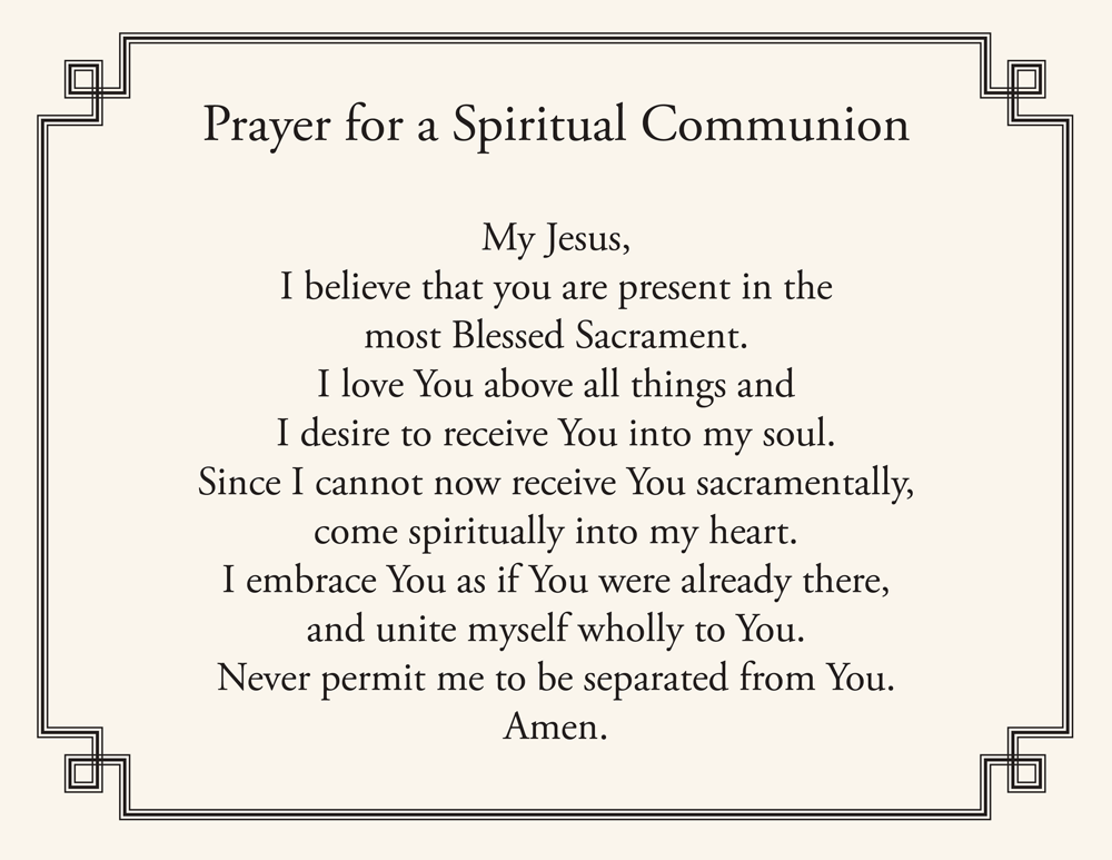 Prayer Spiritual Communion