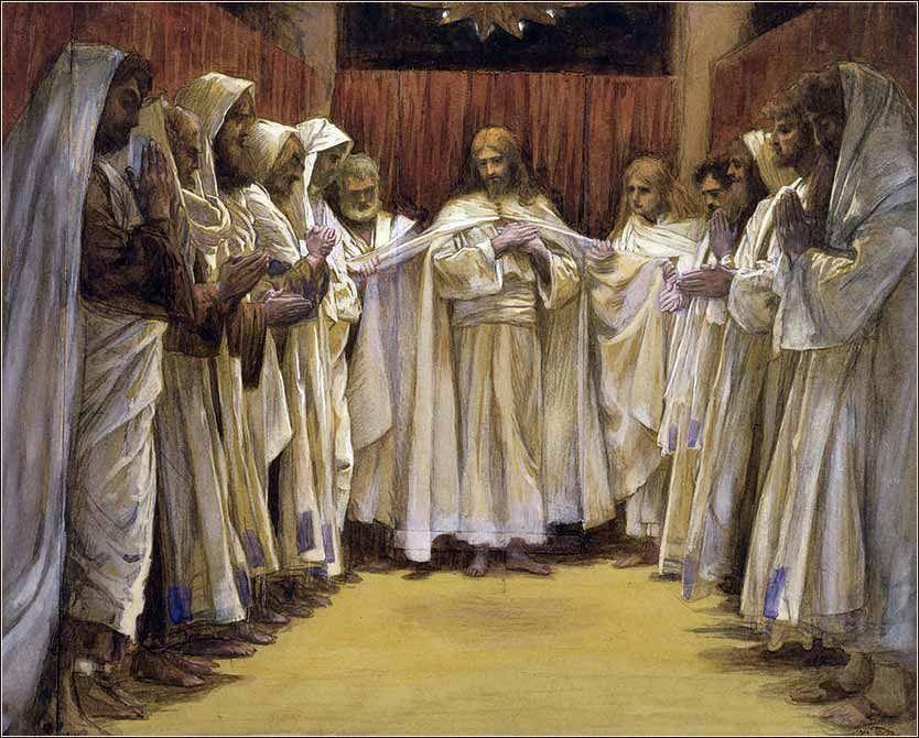 Tissot Christ with Apostles