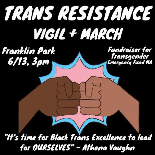 Trans Resistance Vigil + March Franklin Park 6/13 3pm