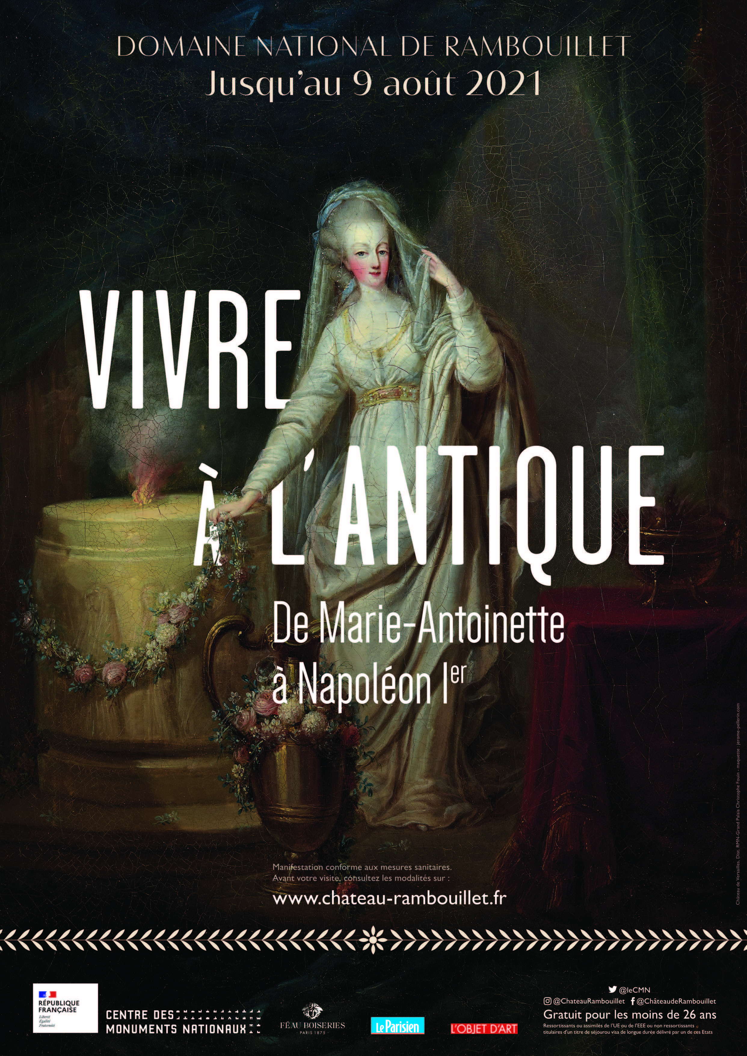 """exposition chateau de rambouillet """"Vivre à l'antique, de Marie-Antoinette à Napoléon Ier"""""""