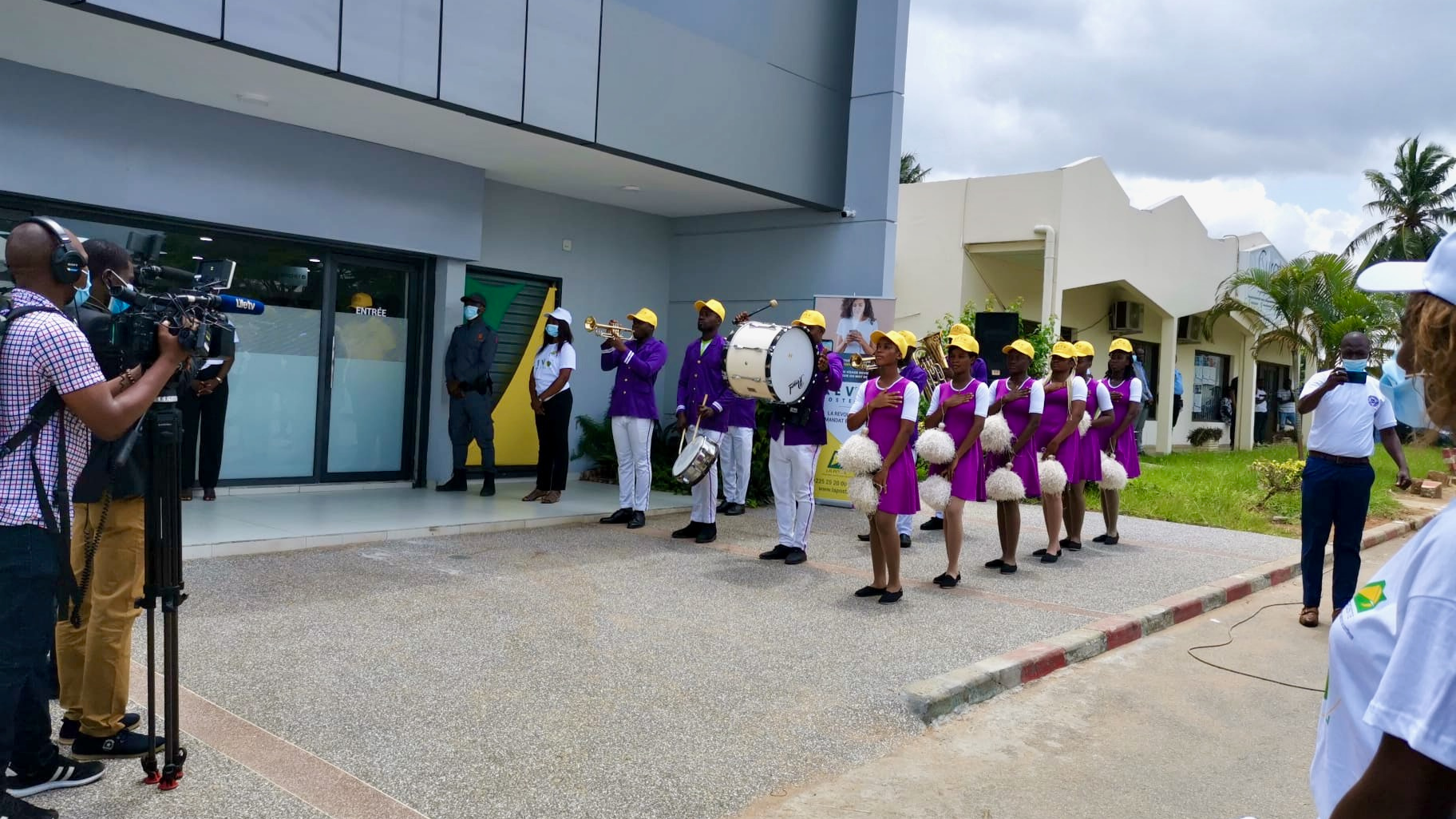 Post office of the future inauguration in Cote d'Ivoire