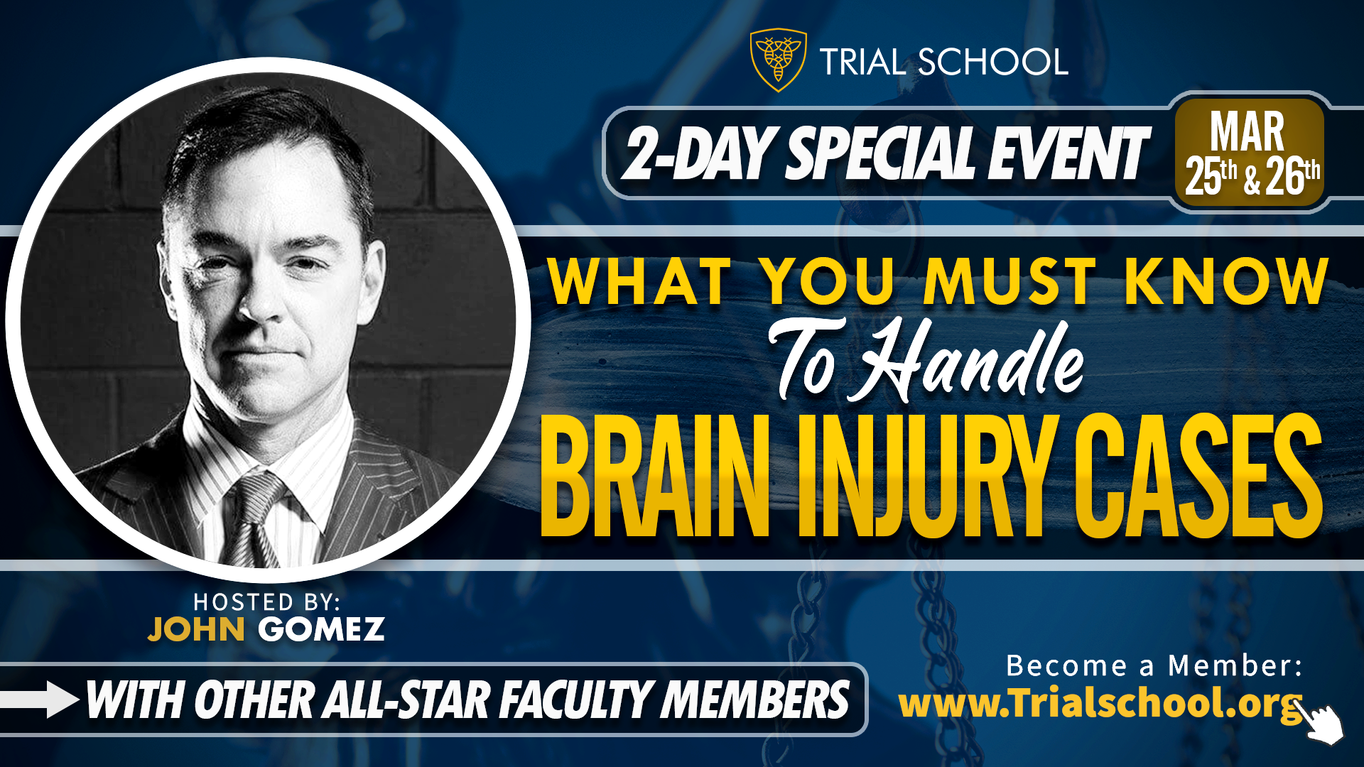 What You Must Know to Handle Brain Injury Cases presented by John Gomez