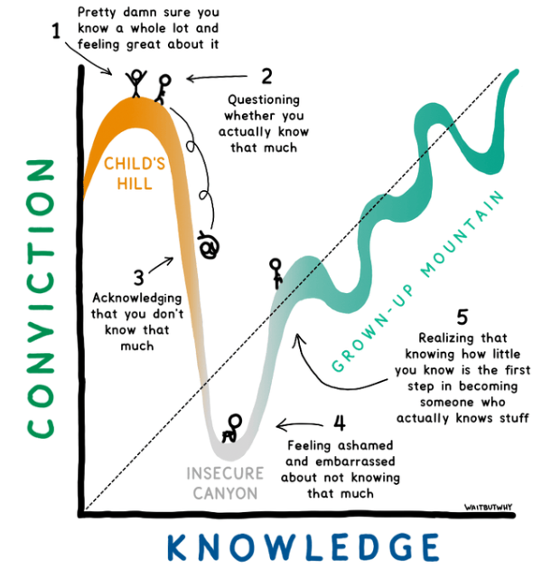 The Knowledge Cycle from Wait But Why