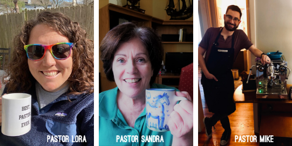 Virtual coffee with a pastor