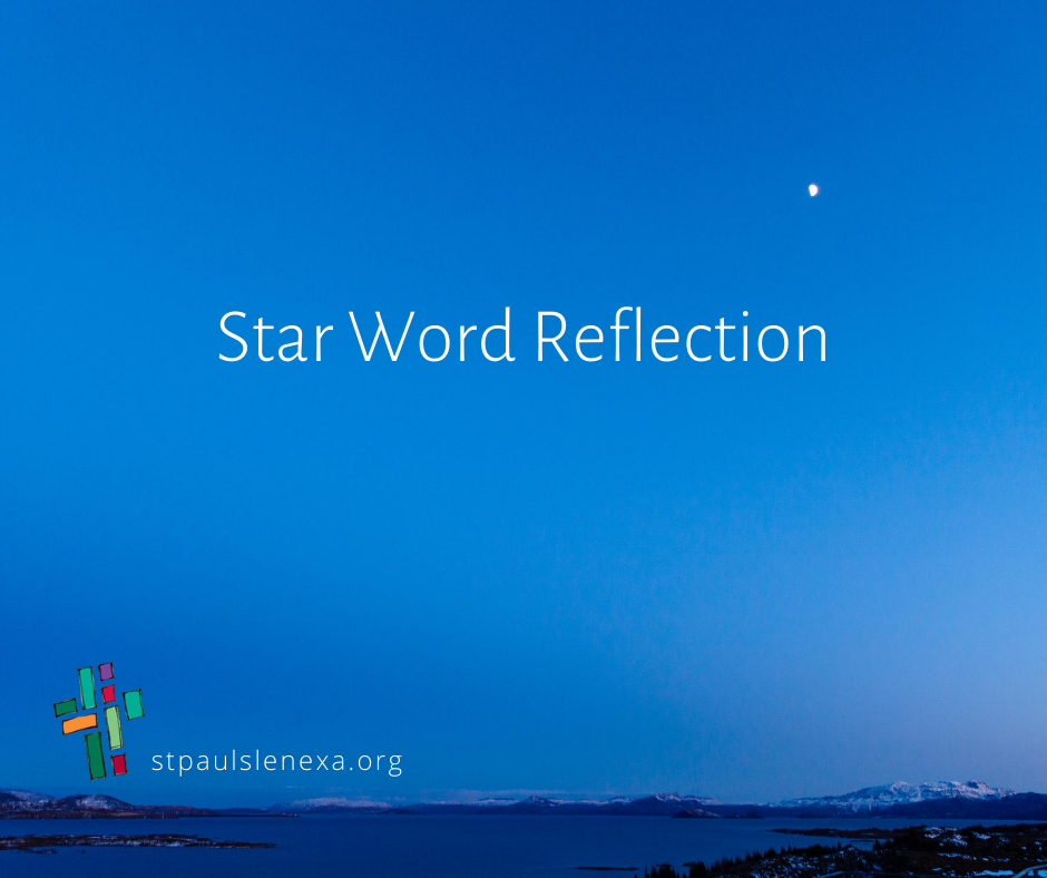 Star Word Reflection