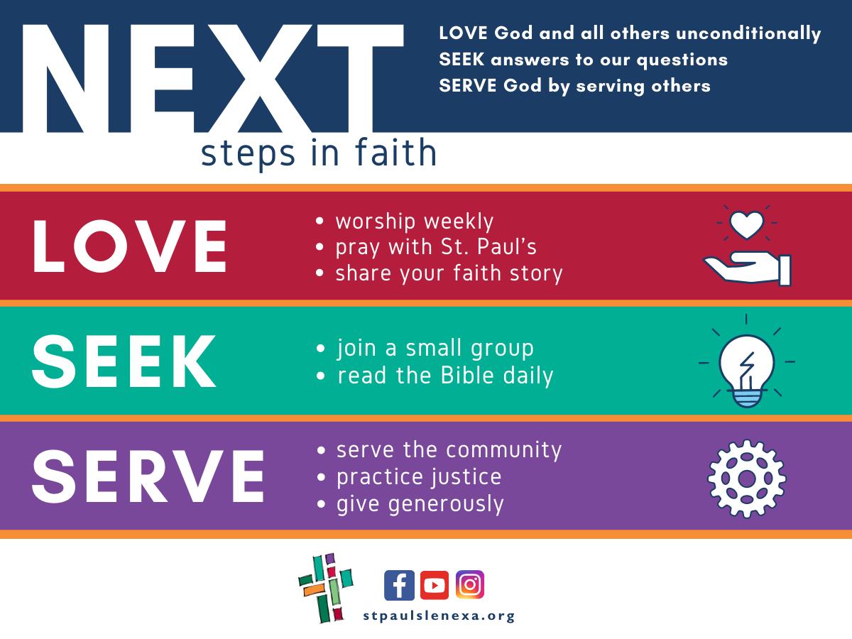 Next steps in faith