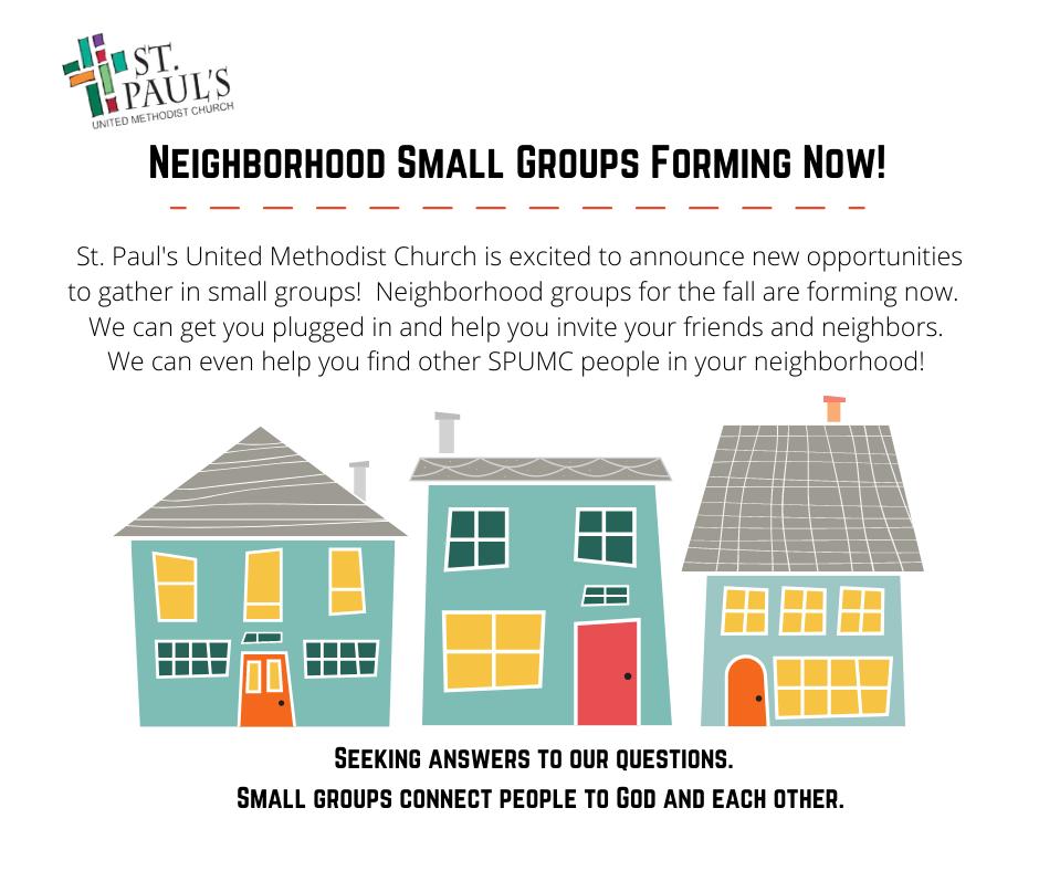 Neighborhood Small Groups