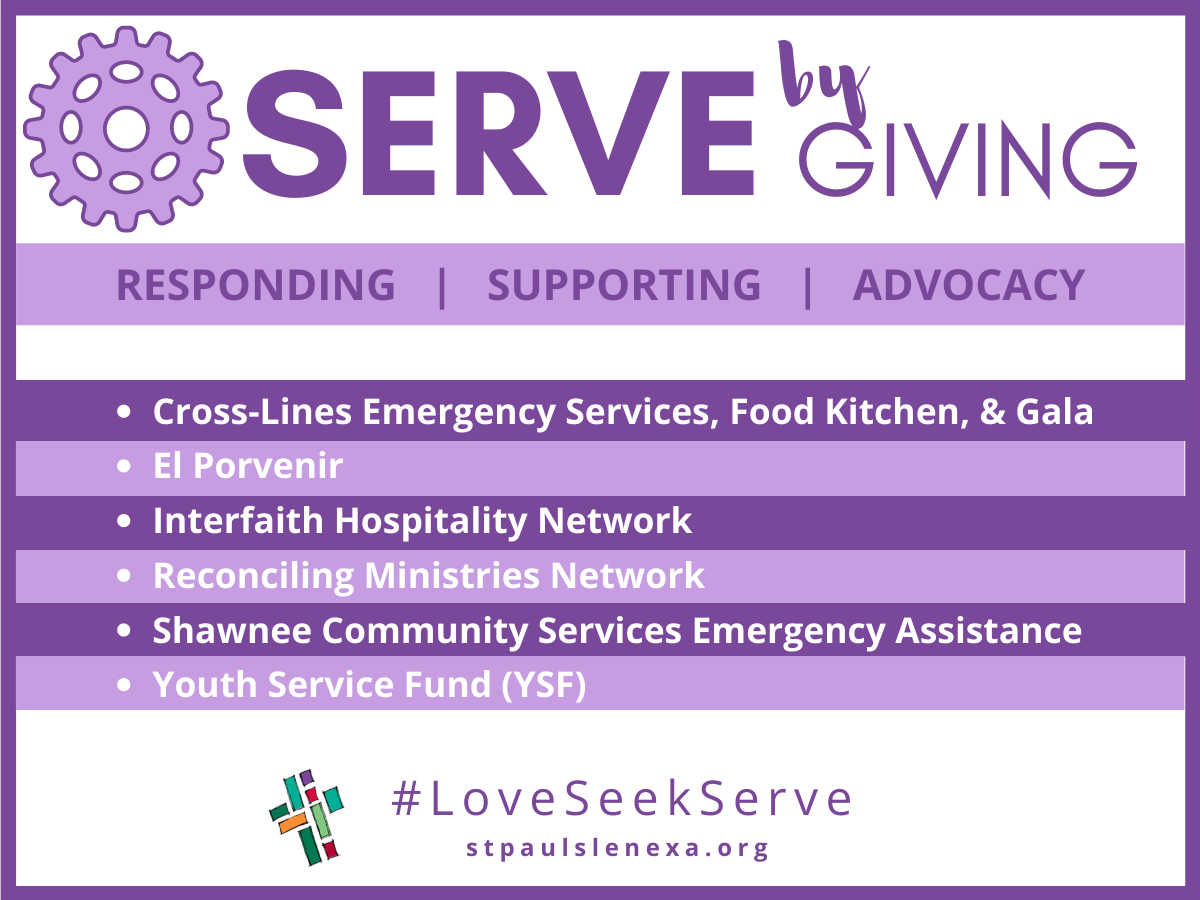 Serve by giving