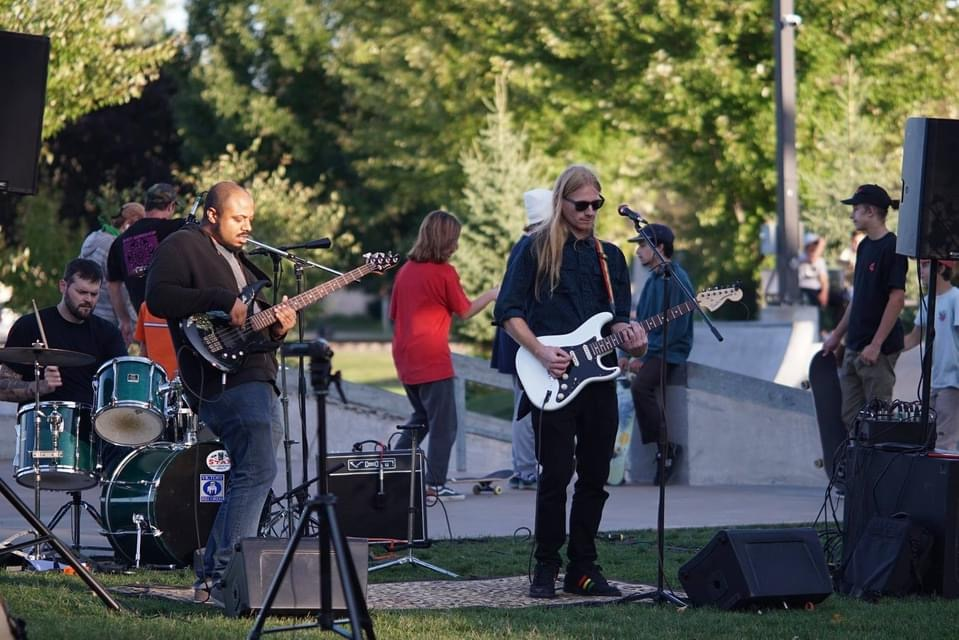 photo of Hydration playing live at Telulah Skatepark in Appleton, Wisconsin
