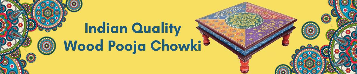 Indian Quality Wood Pooja Chowki amazon.in