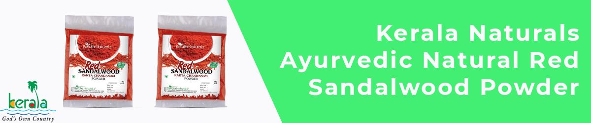 Kerala Naturals Ayurvedic Natural Red Sandalwood Powder