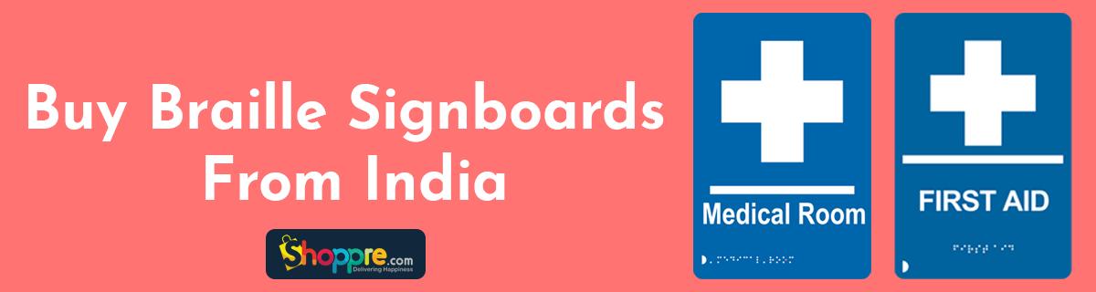 Buy Braille Sign Boards through ShoppRe Parcels