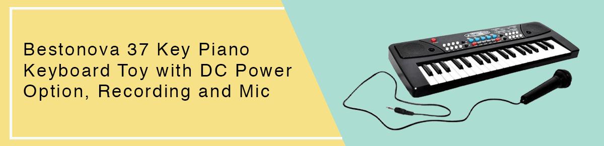 Bestonova 37 Key Piano Keyboard Toy with DC Power Option, Recording and Mic
