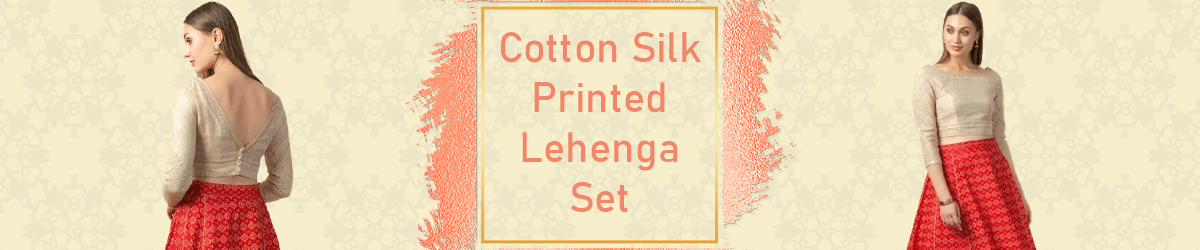 Cotton Silk Printed Lehenga Set