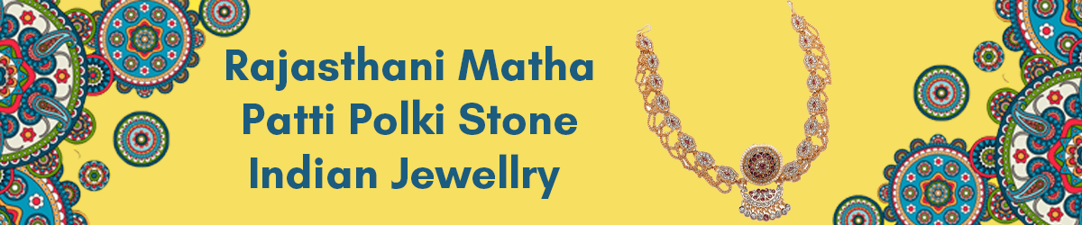 Rajasthani Matha Patti Polki Stone Indian Jewellry amazon.in