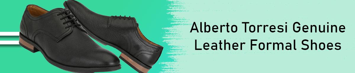 Alberto Torresi Office Genuine Leather Black Formal Shoes