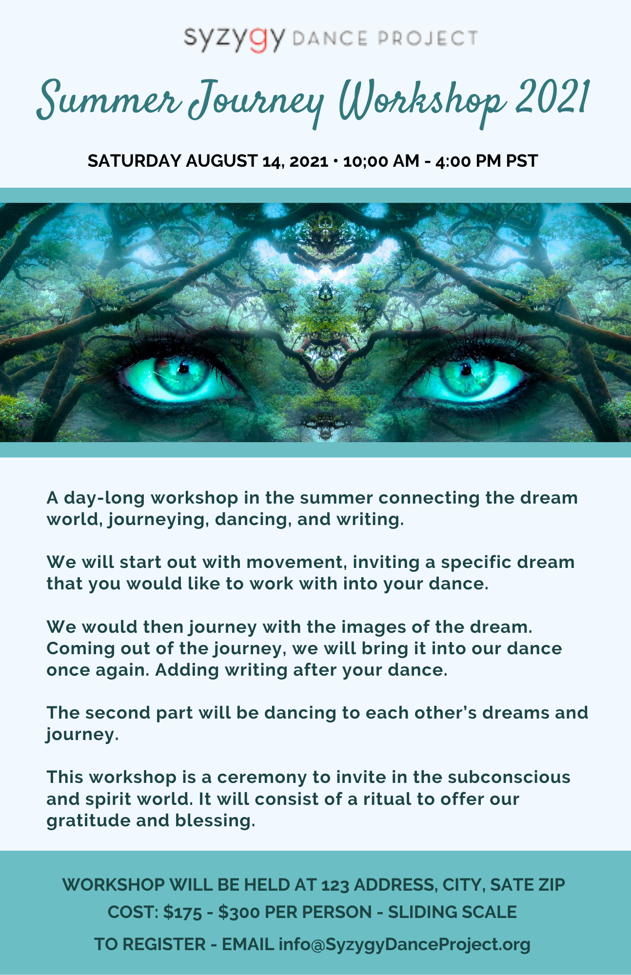 Journey into the unknown workshop information and registration