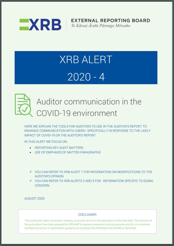 XRB Alert 2020-4 Cover