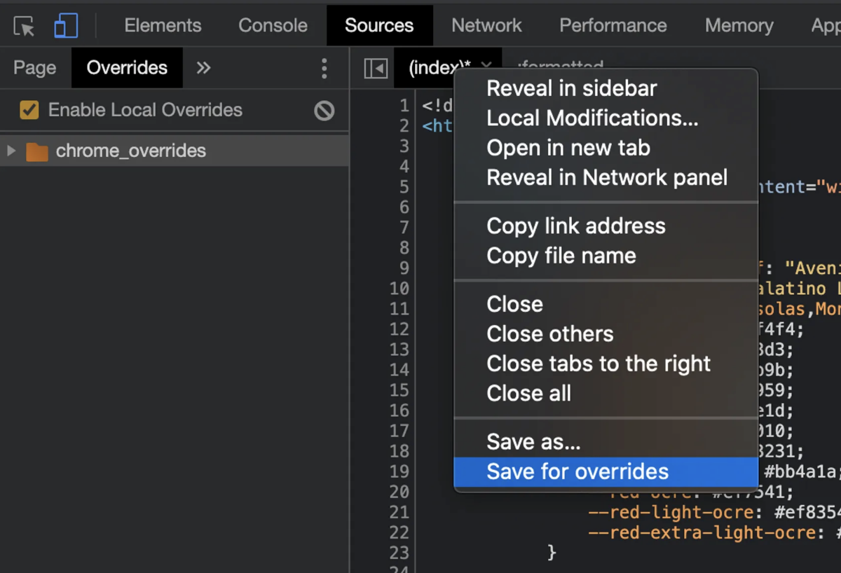 Using Chrome Local Overrides To Optimize Page Speed